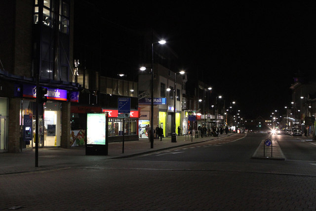 bromley town centre at night creative commons