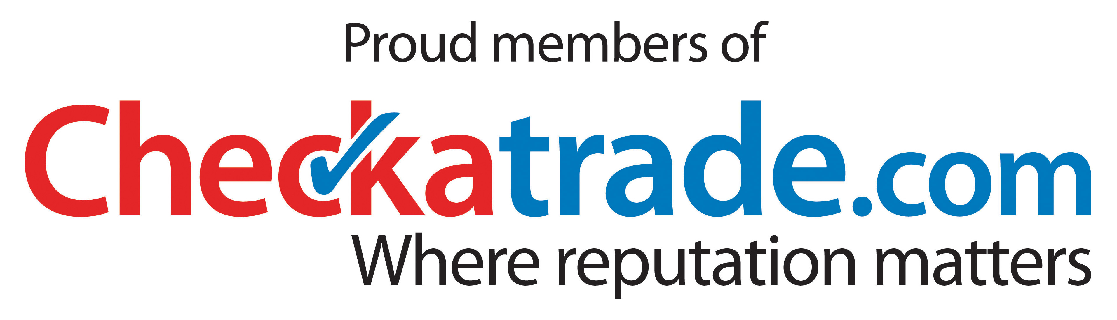 the checkatrade logo with link to checkatrade profile